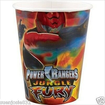 Power Rangers Jungle Fury 9oz Hot Cold Paper Cups 8ct Party Supplies
