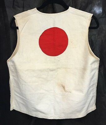 Original WWII Japanese Army Solders Good Luck Vest