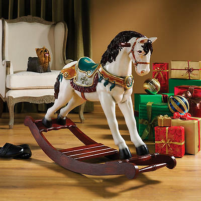 Large Display Victorian Style Fantasy Carousel Rocking Horse Festive Statue