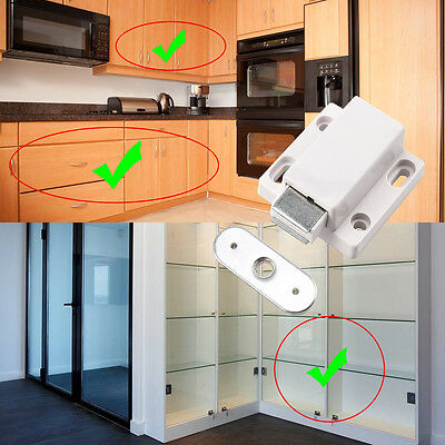 Magnetic Pressure Push To Open Touch Release Kitchen Cabinet Doors Catches Latch