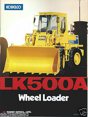 Equipment Brochure - Kobelco - LK500A - Wheel Loader  (E2886)