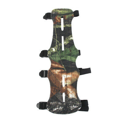 Camo Leather Shooting Target Archery Arm Guard Safe 4 Straps Protector Gear