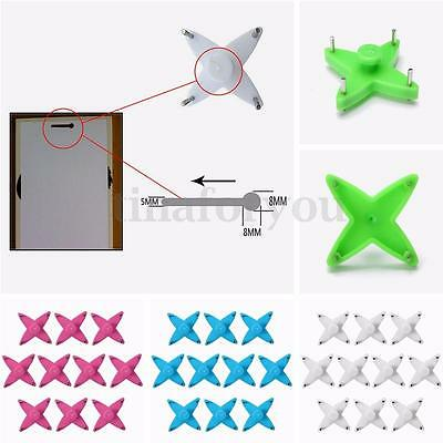 6/12/24pcs Plastic HARD WALL PICTURE HOOK Frame Photos Mirror Hanging Hanger
