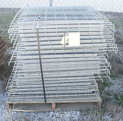 "Used 36"" x 46"" Warehouse Pallet Metal Wire Rack Deck Decking Waterfall Style"