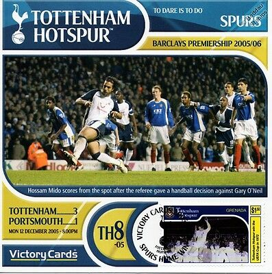 Spurs 2005-06 Portsmouth (Hossam Mido) Football Stamp Victory Card #508