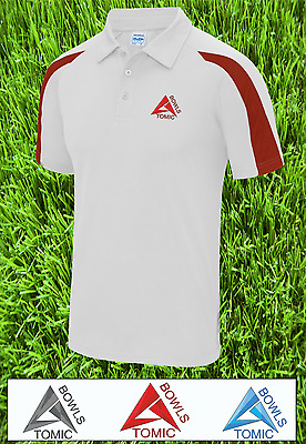 Atomic Bowls Mens Womens Unisex Performance Lawn Bowls AirTech Top 3 Colours