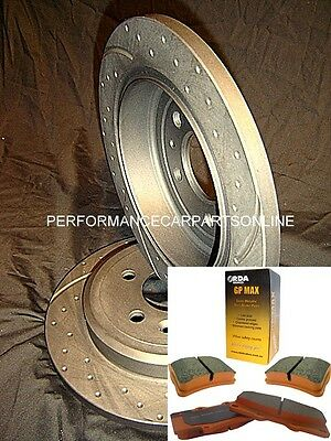 DRILLED & SLOTTED Lexus IS200 IS300 Rear Disc Rotors AND PADS NEW 2000-2005