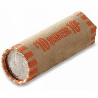 Coin Wrappers Rolls Preformed Tubular Quarters 70 count