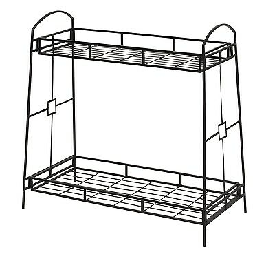 Panacea 86710 Plant Stand with Contemporary Tray Design and 2-Tier, 32-Inch H...