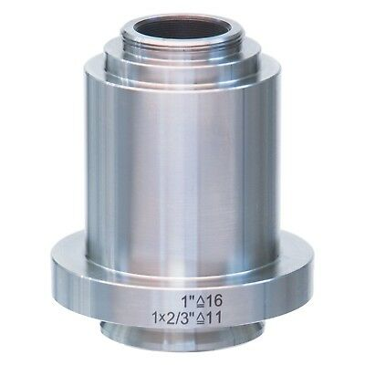 1X Stainless Steel C-mount Camera Adapter for Leica Microscopes