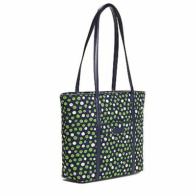 LUCKY DOTS Vera Bradley TRIMMED TOTE Large Handbag Overnight Travel Bag New TAGS