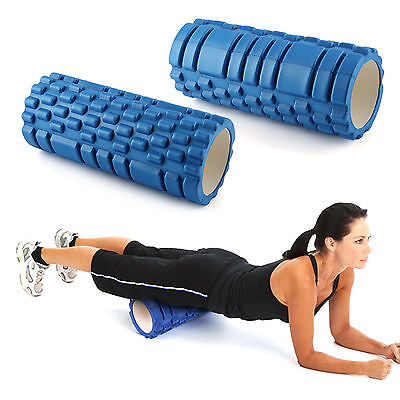Yoga Foam Eva Roller Exercise Massage Trigger Point Gym Pilates Physio Blue