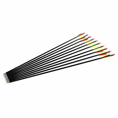 """31"""" Fibreglass Arrows Archery Hunting Steel Field Tips Suits Most Bows"""