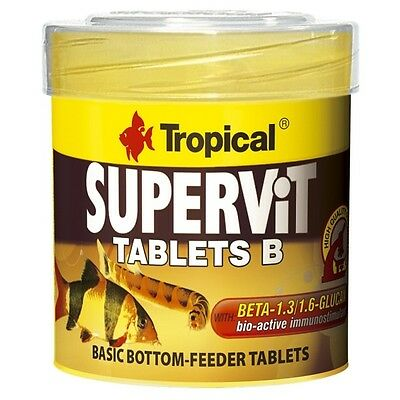 Tropical Supervit Tablets B - Bodentabletten, Basisfutter-Tabletten