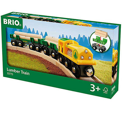 BRIO 33775 Lumber Train for Wooden Train Set