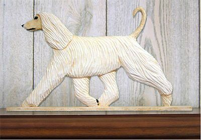 Afghan Figurine Sign Plaque Display Wall Decoration Cream