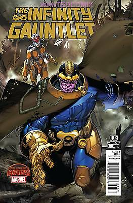 Infinity Gauntlet #3 Bianchi Variant Cover Thanos Avengers Marvel Comic Book 1