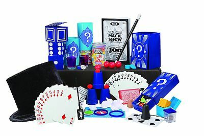 Kids Classic 100 Tricks Magic Show Kit Suitcase Toy Set Video Magician Table Hat
