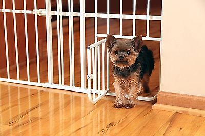 Carlson Mini Metal Expandable Pet Door Gate Safety Baby Toddler Dog Cat Small