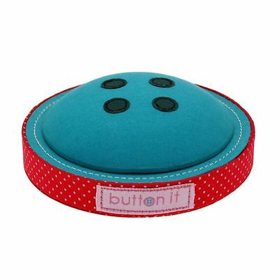 Button It Turquoise Button Novelty Pin Cushion