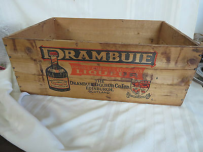 Drambuie Liqueur Wood Crate Edinburgh, Scotland