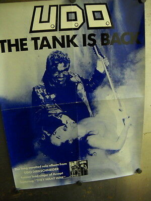 UDO 1988 Large Promo Poster THE TANK IS BACK