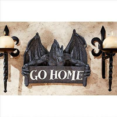 Medieval Dragon Go Home Medieval Un-Welcome Wall Plaque