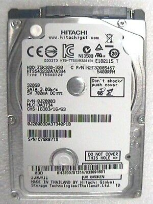 "320Gb Hitachi HTS545032A7E380 2.5"" Laptop SATA 5400rpm 7mm harddrive"