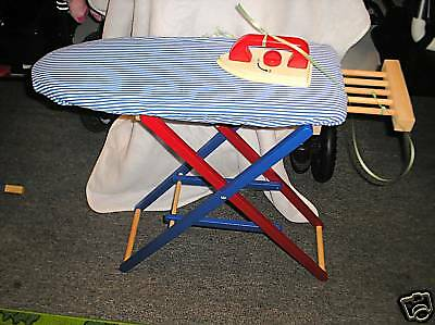New childs girls wooden iron ironing board