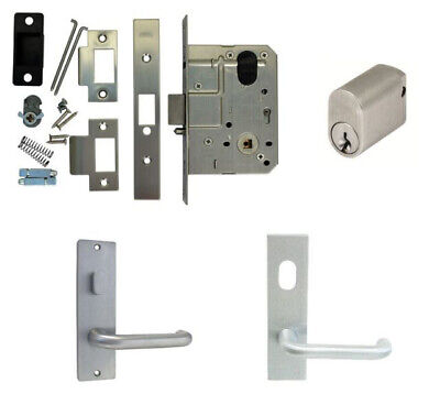 Kaba Entrance Door Pack MS2 Mortice Lock Cylinder Plate w/ Snib Hole & Lever