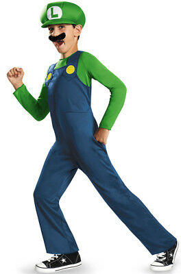 Super Mario Brother Luigi Classic Child Costume