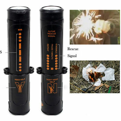 10in1 Compass Flint Fire Starter Camping Hiking Emergency Survival Multi  Tool