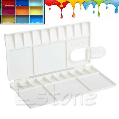 Hot 25 Grids Large Art Paint Tray Artist Oil Watercolor Plastic Palette White