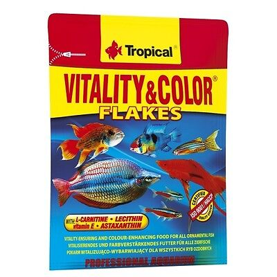 Tropical Vitality & Color Flakes, Flockenfutter mit Astaxanthin und L-Carnithin • EUR 1,84