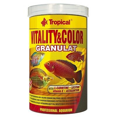 Tropical Vitality & Color Granulat, Granulatfutter mit Astaxanthin und L-Carnith