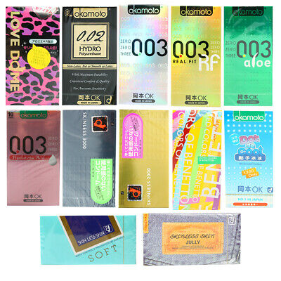 Okamoto ULTRA THIN Lubricant Dotted Ribbed Condoms Kondome 003 Real fit Japan