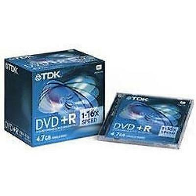 TDK DVD+R Recordable Jewel Case 10 Pack 4.7GB 120 Min