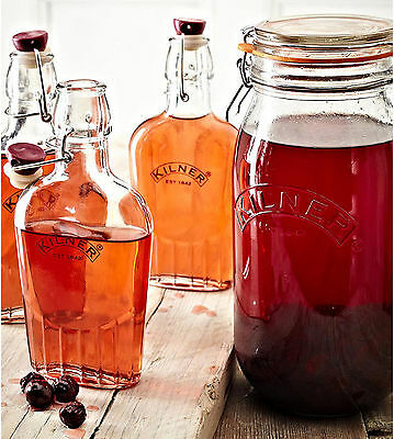 Kilner Glass Bottles Clip Top Sloe Gin Storage Preserving Oil Bottle Jars 275ml