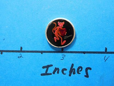 Pink Panther Black Back Red Heart With Love 25Th Anniver Mini 999 Silver Coin