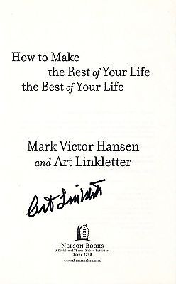 Art Linkletter signed How to Make the Rest of Your Life book page / autograph