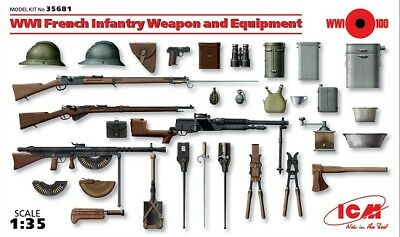 Icm 35681 - 1/35 Wwi French Infantry Weapon And Equipment - Neu