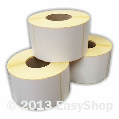 12x Rolls White 102mm x 152mm Self Adhesive Ribbon Printer Labels 1000 76mm Core