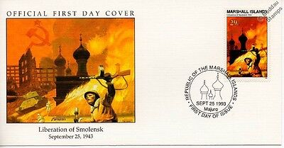 1943 LIBERATION OF SMOLENSK (Russia) Soviet Army Soldier WWII Stamp FDC