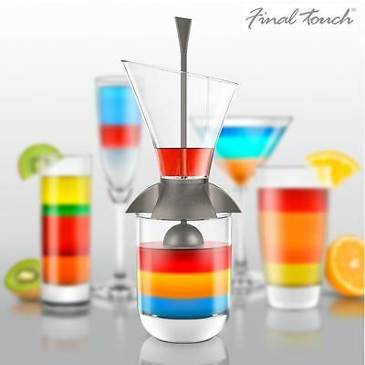 Final Touch Rainbow Cocktail Drinks Layering Mixing Tool - CD3159