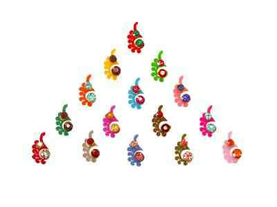 Rainbow Crystal Body Stickers Small Colorful Indian Bindi Pack