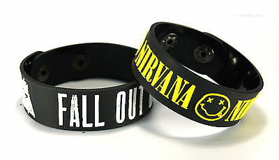FALL OUT BOY NIRVANA FON2 NEW! 2pcs(2x) Bracelet Wristband