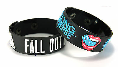 FALL OUT BOY FALLING IN REVERSE FOFI NEW! 2pcs(2x) Bracelet Wristband