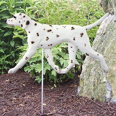 Dalmatian Outdoor Garden Dog Sign Hand Painted Figure Liver