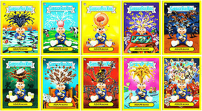 Garbage Pail Kids Flashback 2 2011 Complete 10-Card Adam Bomb Mania Yellow Set