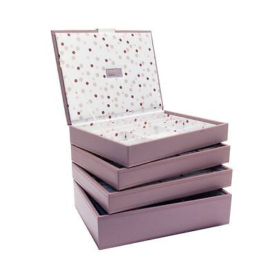 Stackers by LC Designs Set of 4 Pink Spot Medium Stacker Jewellery Trays